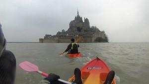 le Mont Saint Michel à marée hautee