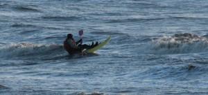 Surf sur la plage du bec d'andaine