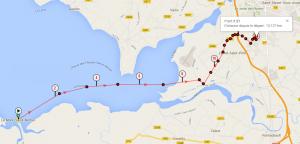 Trace gps du trail Le Mont Saint Michel - Le Val Saint Pere